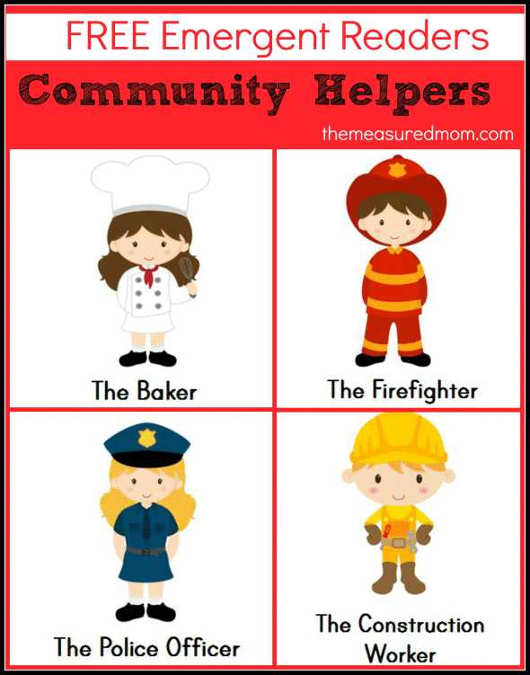 Community Helpers Police Officer Worksheet Along with Free Munity Helpers Emergent Readers the Measured Mom