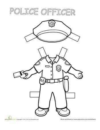 Community Helpers Police Officer Worksheet and Pin by Zeynep Tamer ‡elik On ‡izimler Pinterest