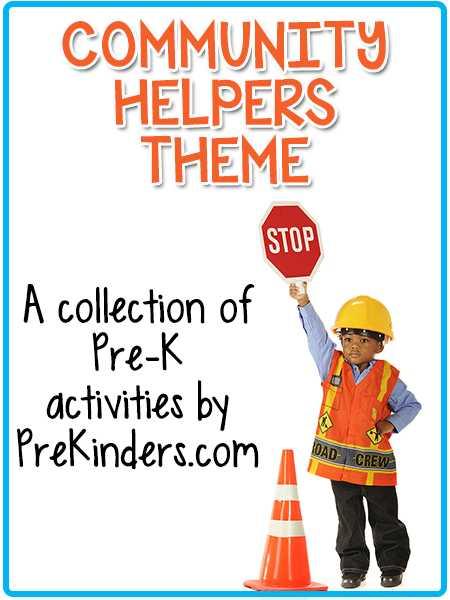 Community Helpers Police Officer Worksheet or Munity Helpers theme Prekinders