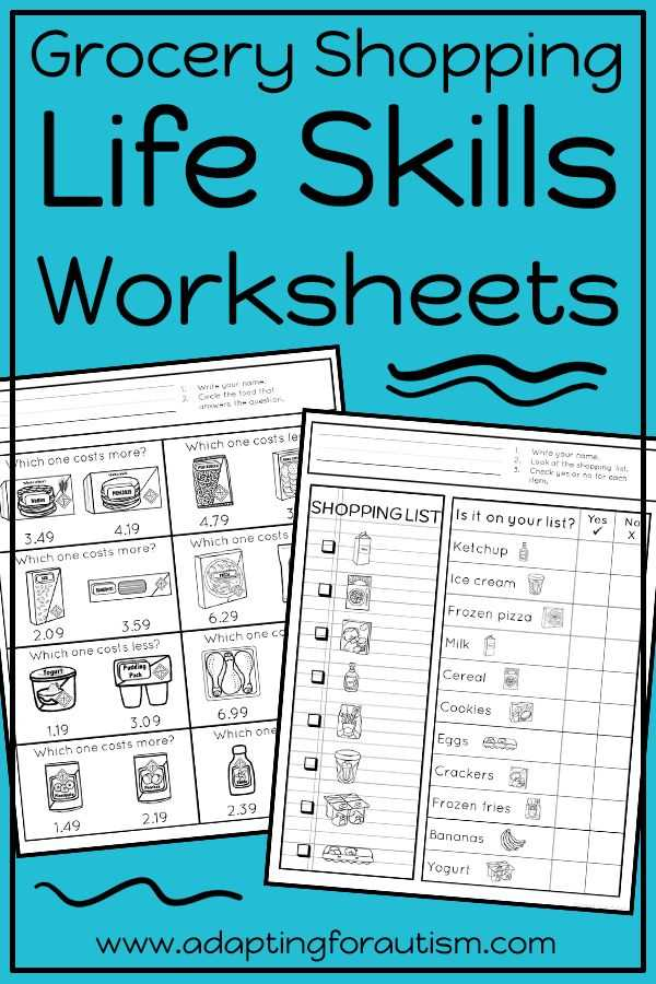 Community Living Skills Worksheets Also 6485 Best Life Skills Special Education Images On Pinterest