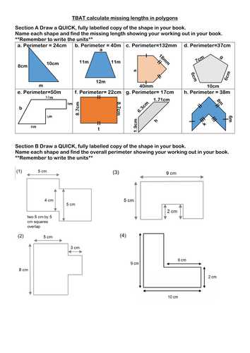 Compound Shapes Worksheet Answer Key and Finding the Perimeter Of Rectangles and Pound Shapes by