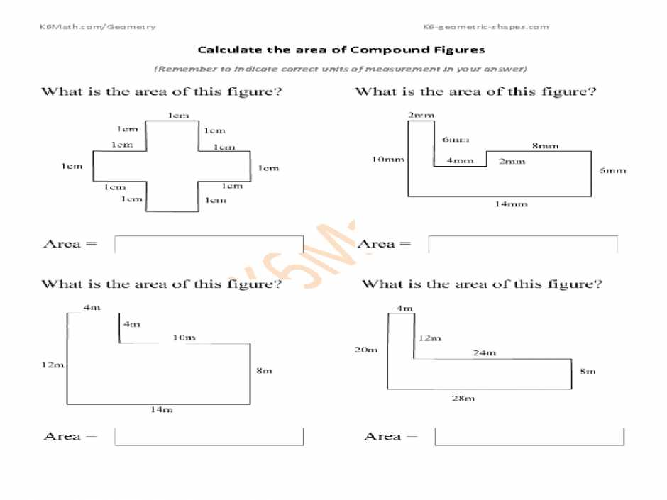 Compound Shapes Worksheet Answer Key and Volume Of Irregular Shapes Worksheets Free Library Calculate the