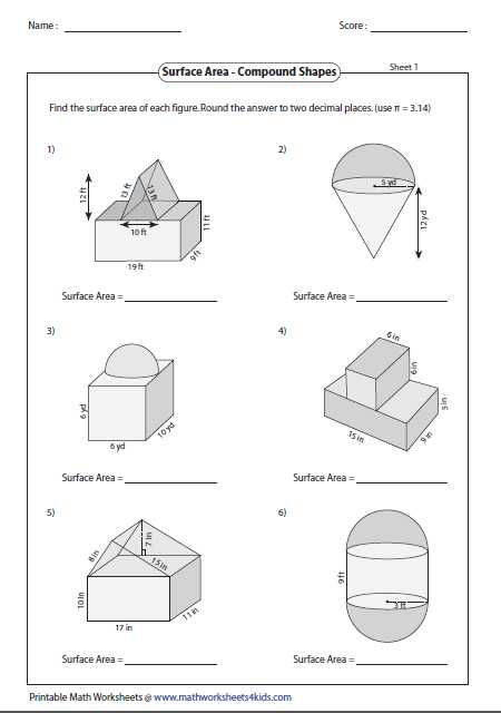 Compound Shapes Worksheet Answer Key as Well as Gcse Maths Shapes Worksheets