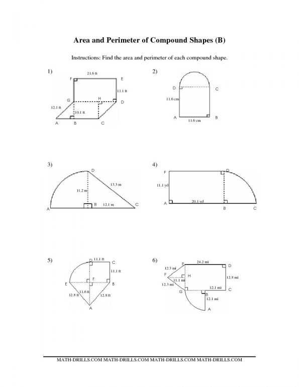 Compound Shapes Worksheet Answer Key as Well as Pound Shapes area Worksheet Free Worksheets Library Math