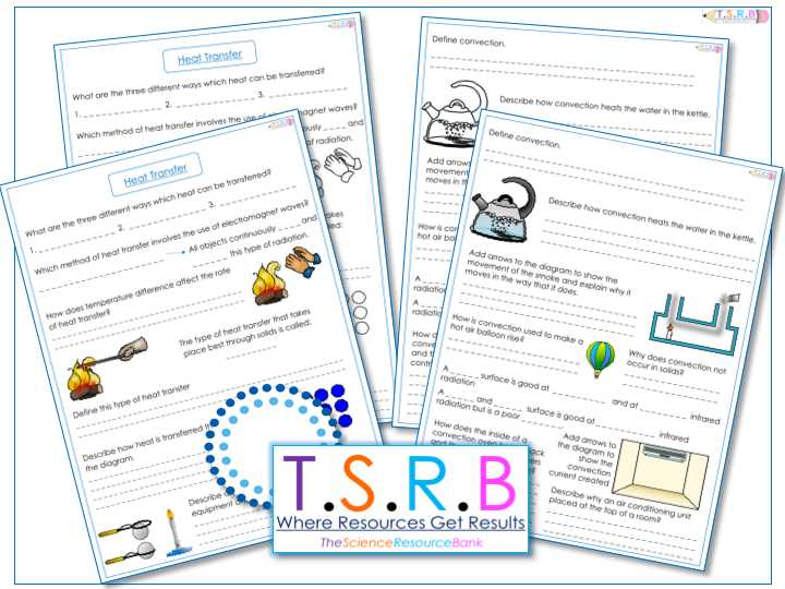 Conduction Convection Radiation Worksheet Answer Key Along with thescienceresourcebank S Shop Teaching Resources Tes