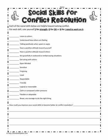 Conflict Resolution Worksheets Along with How I Handle Conflict therapy Pinterest
