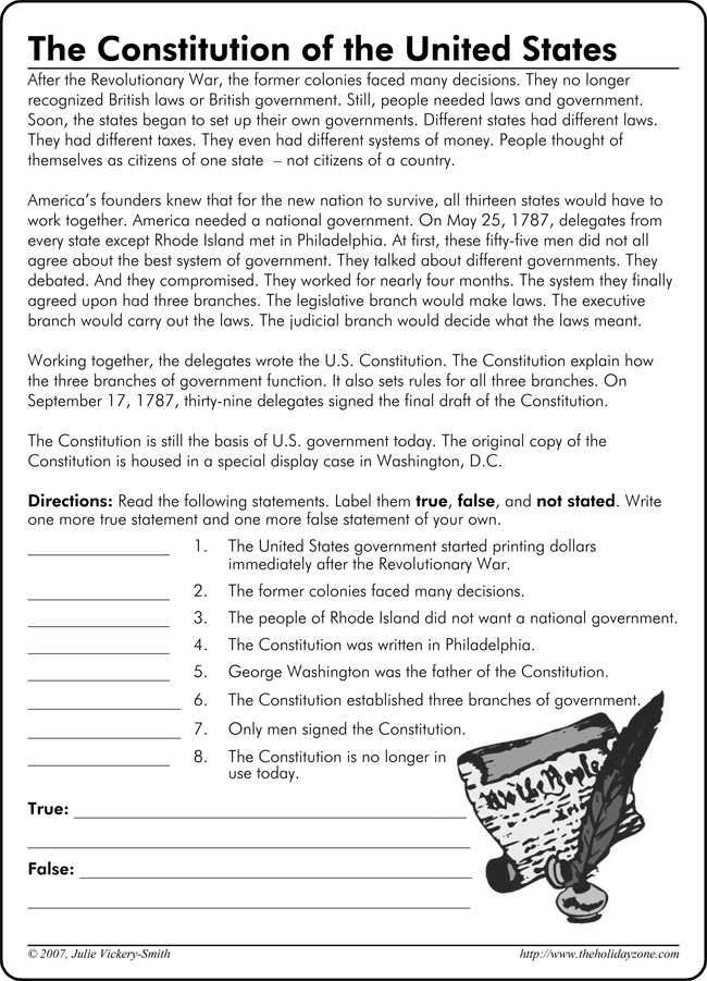 Constitution Worksheet High School or the Us Constitution Worksheet the Us Constitution Worksheet Free