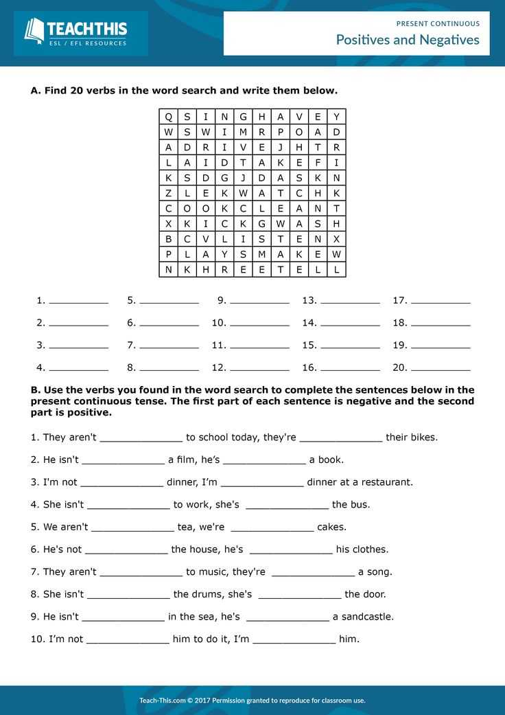 Continuous Compound Interest Worksheet with Answers and 7 Best Present Continuous Esl Efl Games Activities and Worksheets