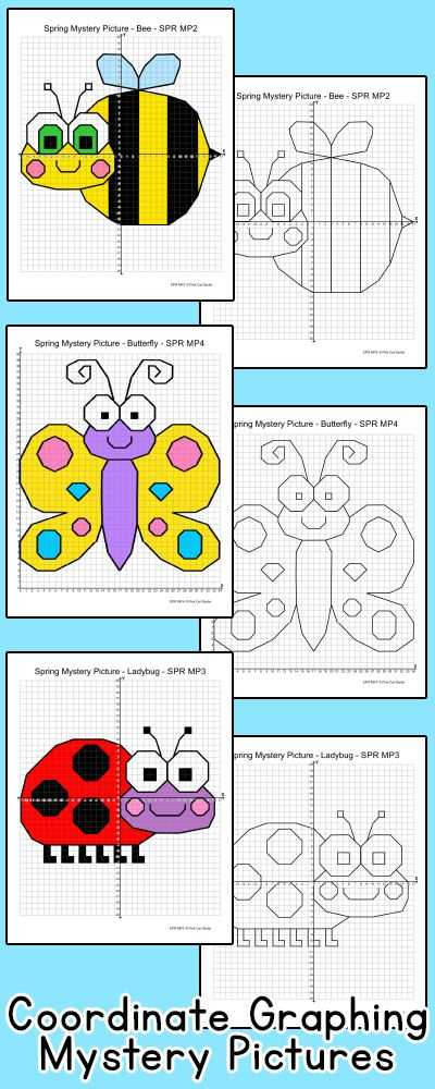Coordinate Graphing Worksheets and Coordinate Graphing ordered Pairs Spring Activities