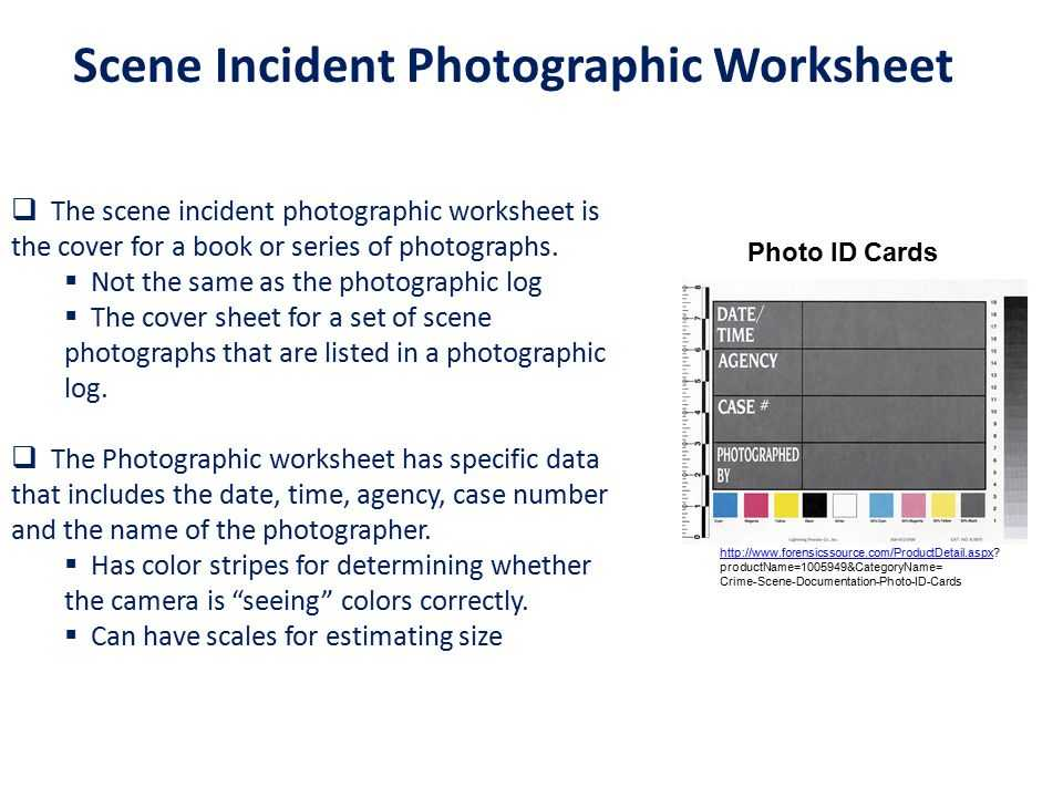 Crime Scene Documentation Worksheet Also forensic aspects Of Graphy Ppt Video Online
