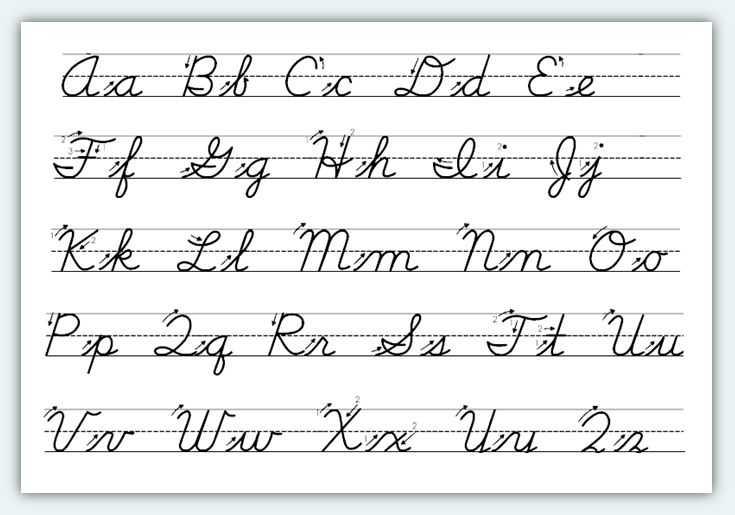 Cursive Alphabet Worksheets Pdf Also Cursive Alphabet Printable 12f1c48d82df869b6b43ff8928c