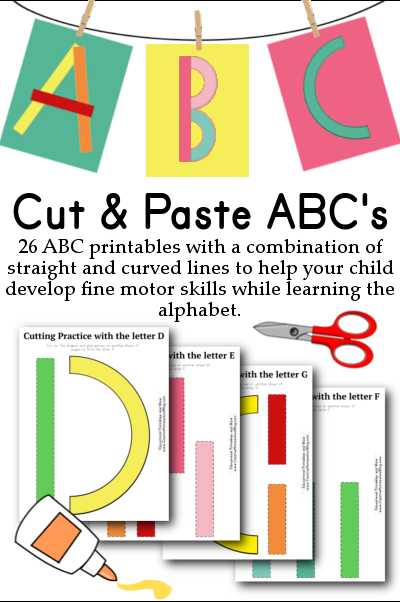 D Day Worksheet or Cut & Paste Abc S Great for Building Fine Motor Skills while