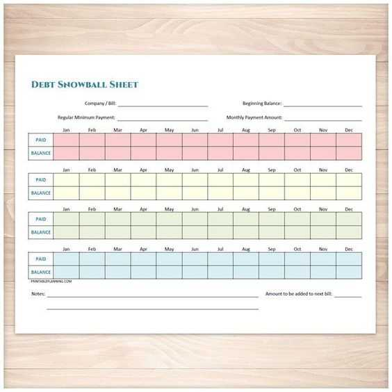 Debt Snowball Worksheet Printable or Debt Snowball Sheet Debt Payoff Plan and Bill Payment Tracker Log