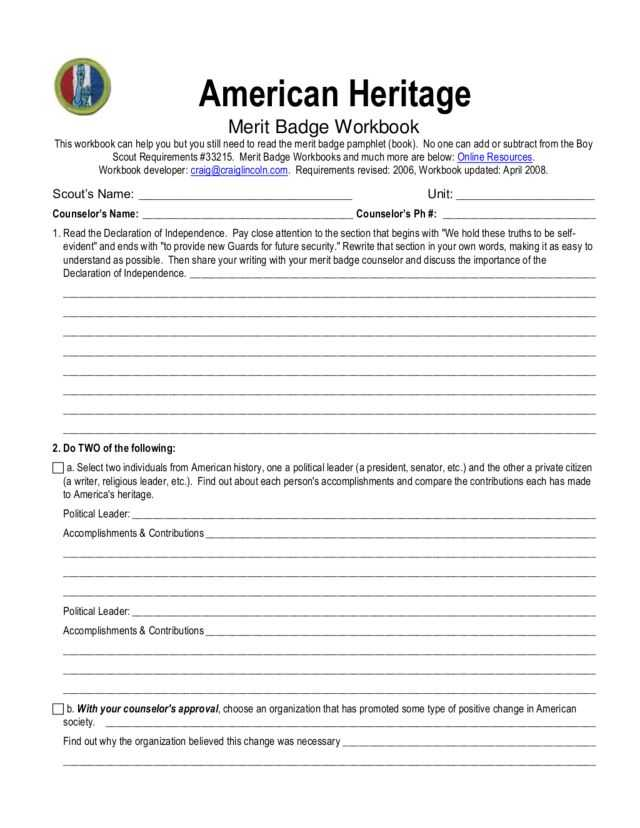 Declaration Of Independence Worksheet Answer Key with First Aid Merit Badge Worksheet Answers Kidz Activities