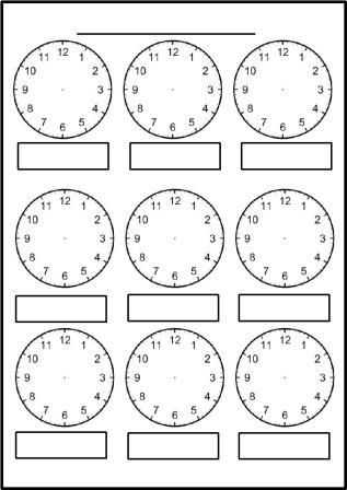 Digital Clock Worksheets Along with Free Printable Blank Clock Faces Worksheets