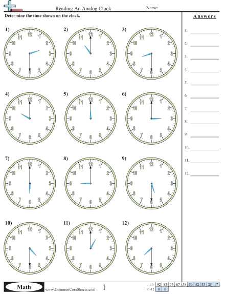 Digital Clock Worksheets or Clock Sheet Worksheets for All