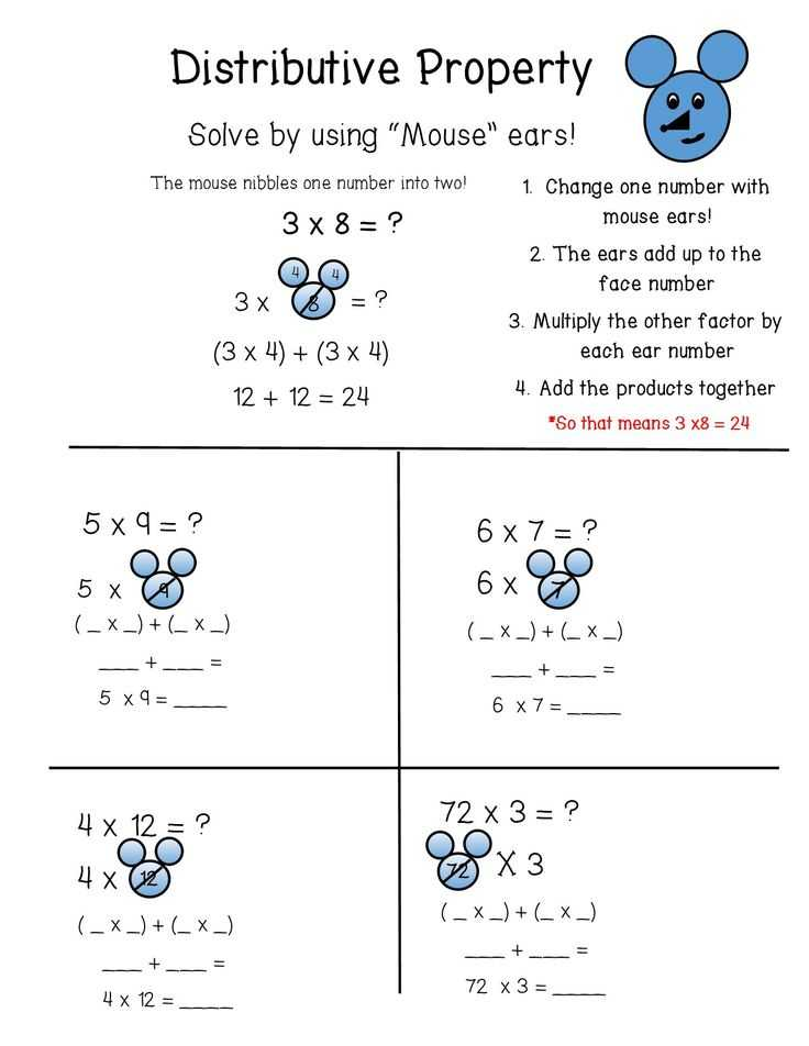 Distributive Property Worksheets 7th Grade together with 18 Best Properties Of Multiplication Images On Pinterest