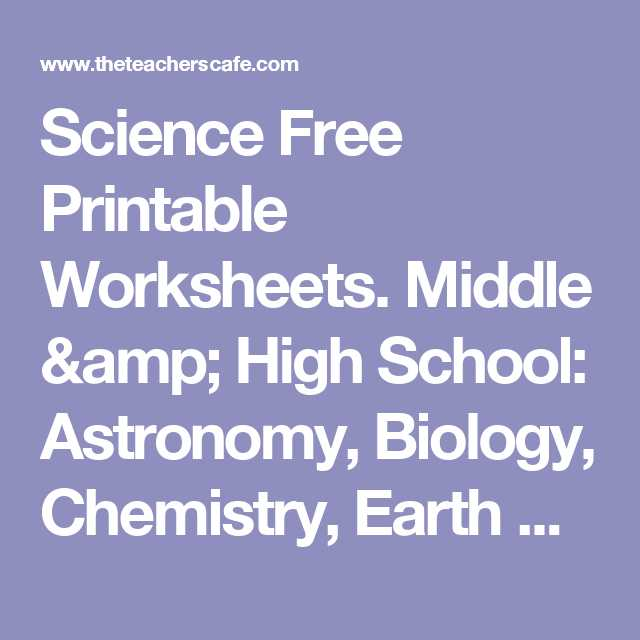 Earth Science Worksheets High School as Well as Science Free Printable Worksheets Middle & High School astronomy