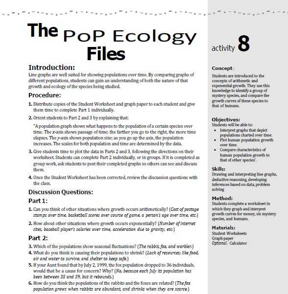 Ecological Footprint Worksheet Answers and Population Riddles