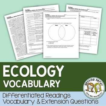 Ecological Relationships Worksheet and 10 Best Relationships W In Ecosystems Images On Pinterest