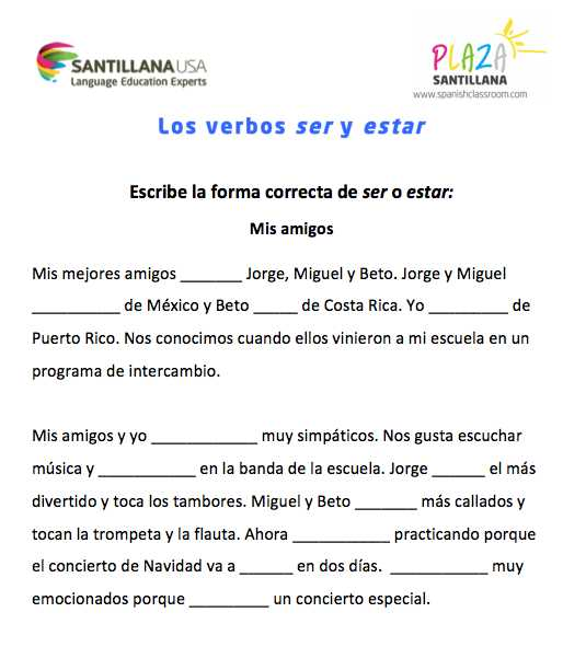 El Verbo Estar Worksheet Answer Key Along with Free Resources for Spanish Teachers Verbos Pinterest
