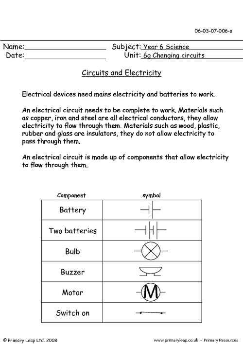 Electrical Power Worksheet Answers and Basic Electricity Worksheet Kidz Activities