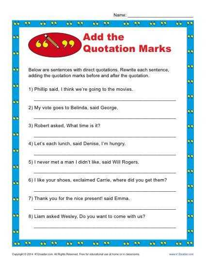 Embedding Quotations Correcting the Errors Worksheet Answers Along with Add the Quotation Marks Worksheet