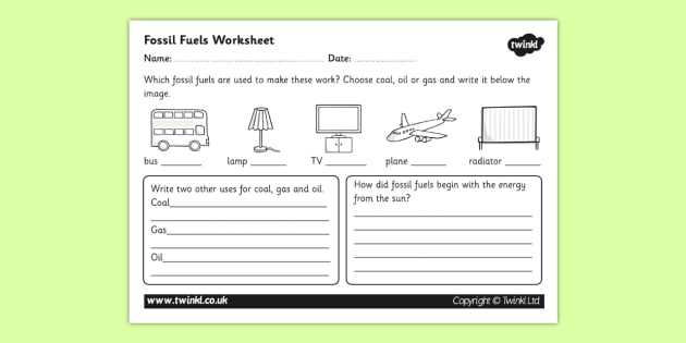 Energy Resources Worksheet Also Fossil Fuel Worksheet Fossil Fuels Renewable Energy Energy