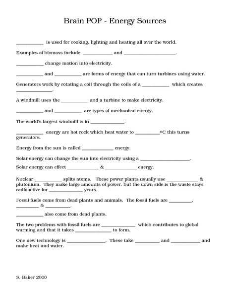 Energy Resources Worksheet with 20 Fresh forms Energy Worksheet