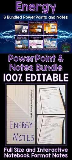 Energy Vocabulary Worksheet and Energy Vocabulary sort Bundle