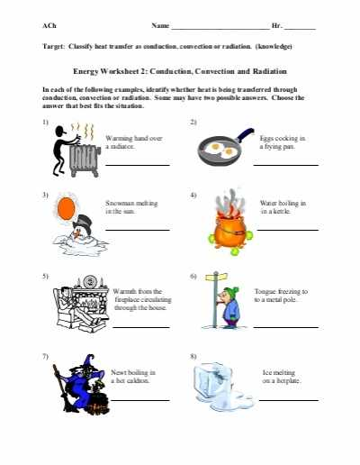 Energy Worksheet 2 Conduction Convection and Radiation Answer Key together with Worksheets 47 Best Energy Transformation Worksheet Hi Res