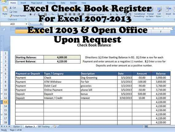 Excel Checkbook Register Budget Worksheet and Excel Check Book Register Help with Balancing Checkbook