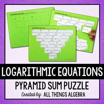 Expanding and Condensing Logarithms Worksheet together with Logarithms Puzzles Teaching Resources