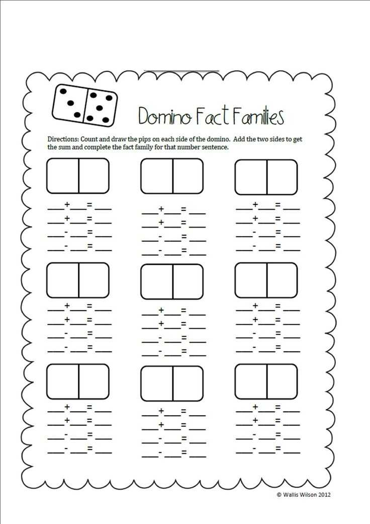 Fact Family Worksheets for First Grade and 16 Best Math Fact Families Images On Pinterest