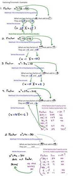 Factoring Practice Worksheet or How to Factor Polynomials Easily the British Methodting