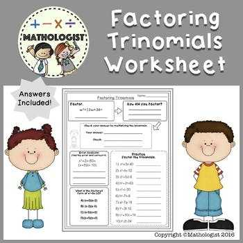 Factoring Trinomials with Leading Coefficient Worksheet and 10 Awesome Graph Factoring Trinomials with Leading