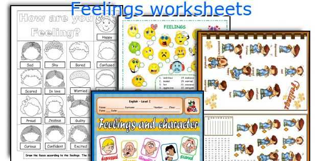Feelings and Emotions Worksheets Pdf Also English Teaching Worksheets Feelings