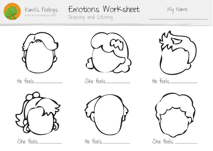 Feelings and Emotions Worksheets Printable and Feelings and Emotions Worksheets Worksheets for All