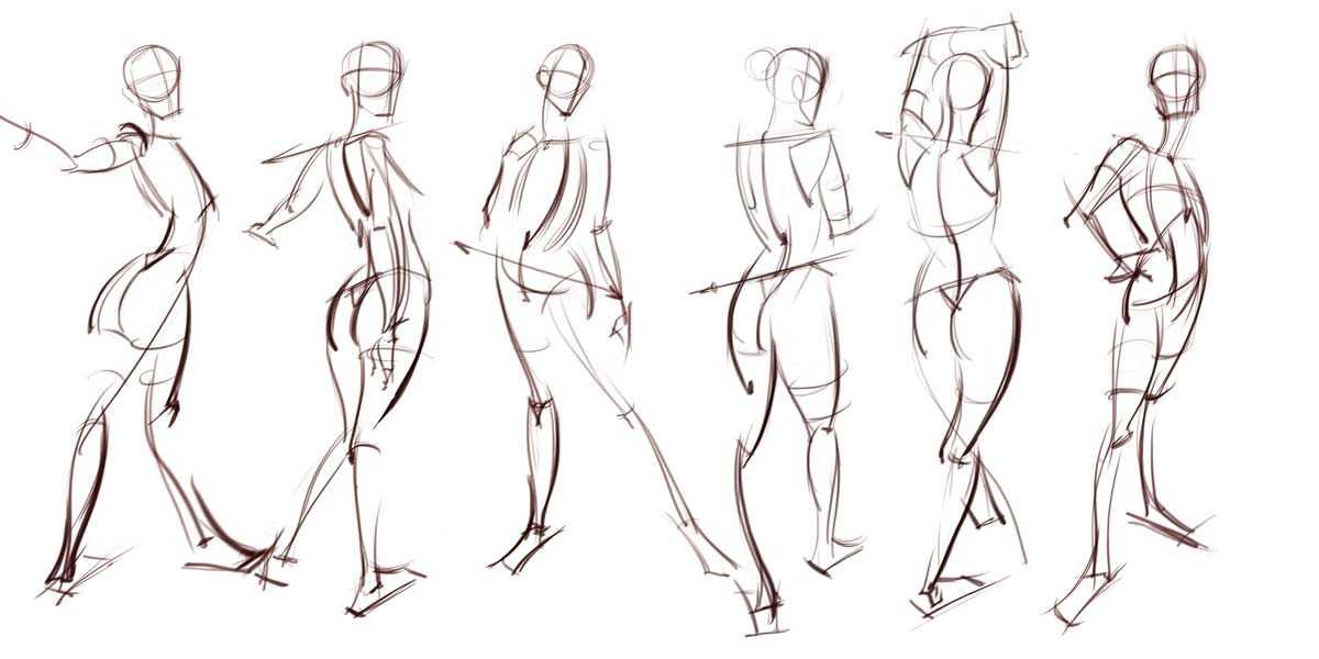 Figure Drawing Proportions Worksheet and Analytical Figure Drawing — Pose and Gesture References — Find More
