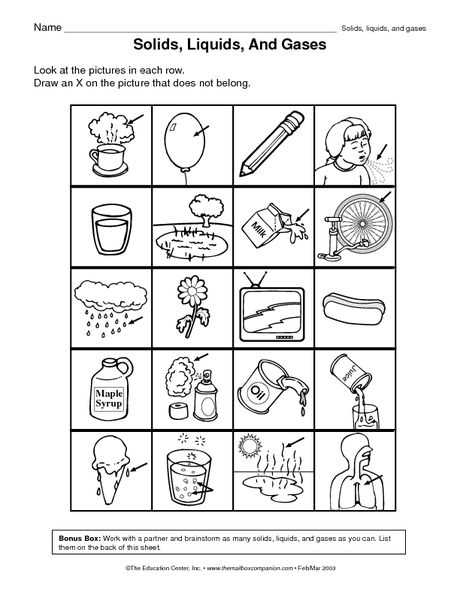 First Grade Science Worksheets and 8 Best Matter Images On Pinterest