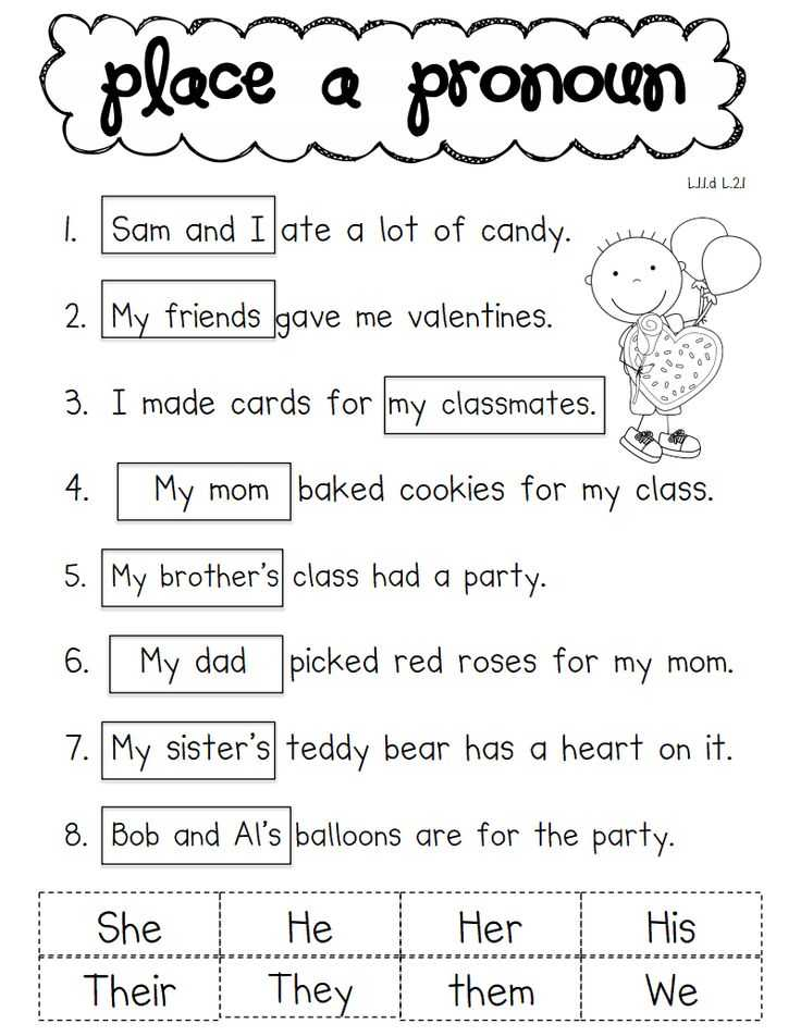 First Grade Worksheets Pdf as Well as Pronouns Worksheets for 1st Grade Worksheets for All
