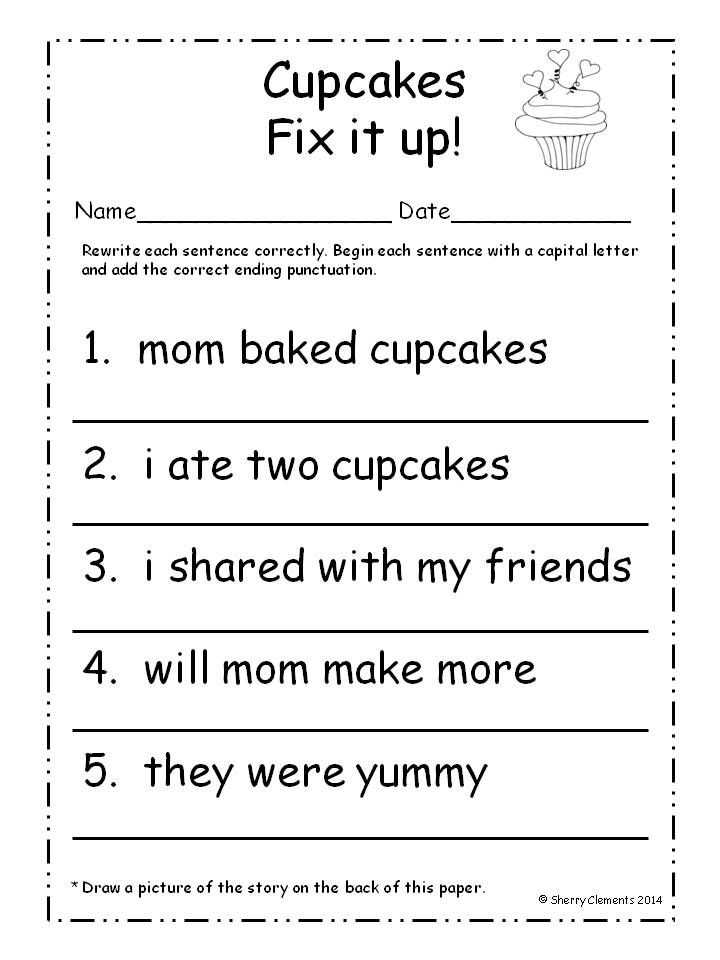 Fix the Sentence Worksheets as Well as 32 Best Vcop Big Write Images On Pinterest
