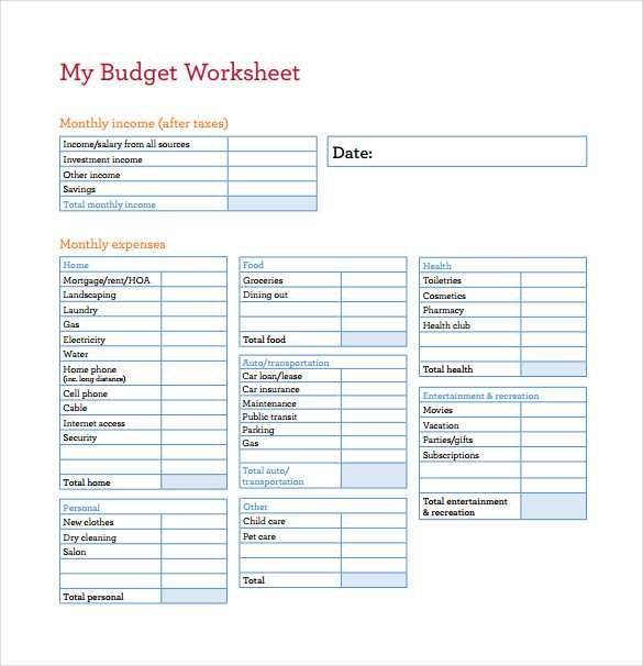 Free Budget Worksheet or Free Bud Sheets Guvecurid