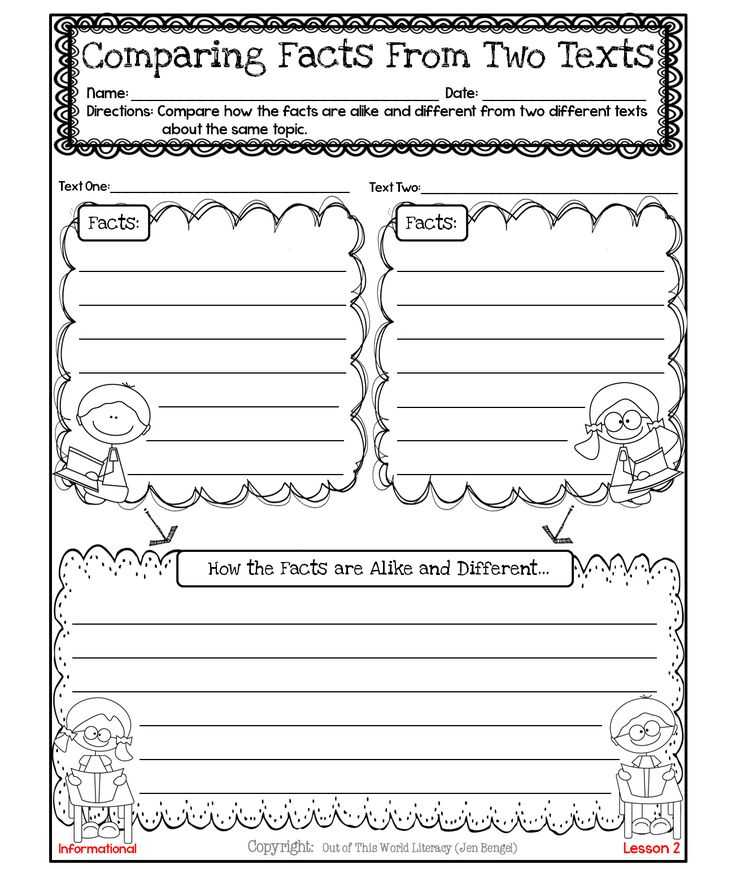 Free Compare and Contrast Worksheets for Kindergarten together with 99 Best Ri 3 9 Paired Passages Pare Contrast Important Points