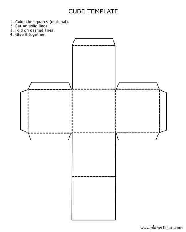 Free Cutting Worksheets or Printable 3d Cube Template Color It Cut It Out Fold It and Glue