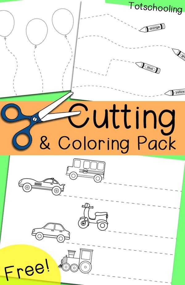 Free Cutting Worksheets together with Free Cutting & Coloring Pack