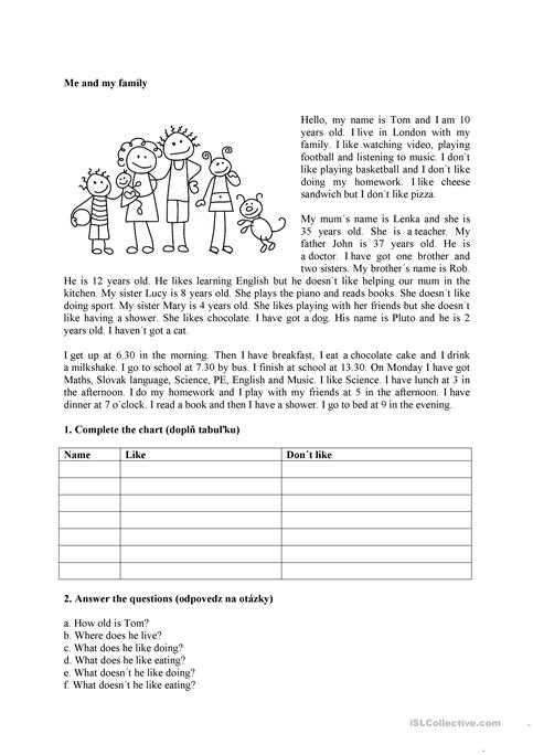 Free Esl Worksheets for Adults or Me and My Family Worksheet Free Esl Printable Worksheets Made by