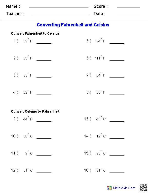 Free Ged social Studies Worksheets and Converting Fahrenheit & Celsius Temperature Measurements Worksheets