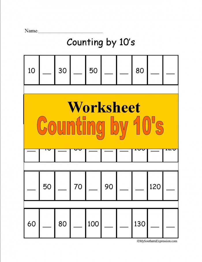 Free Learning Worksheets as Well as Free 1st Grade Math Worksheet Counting 10s