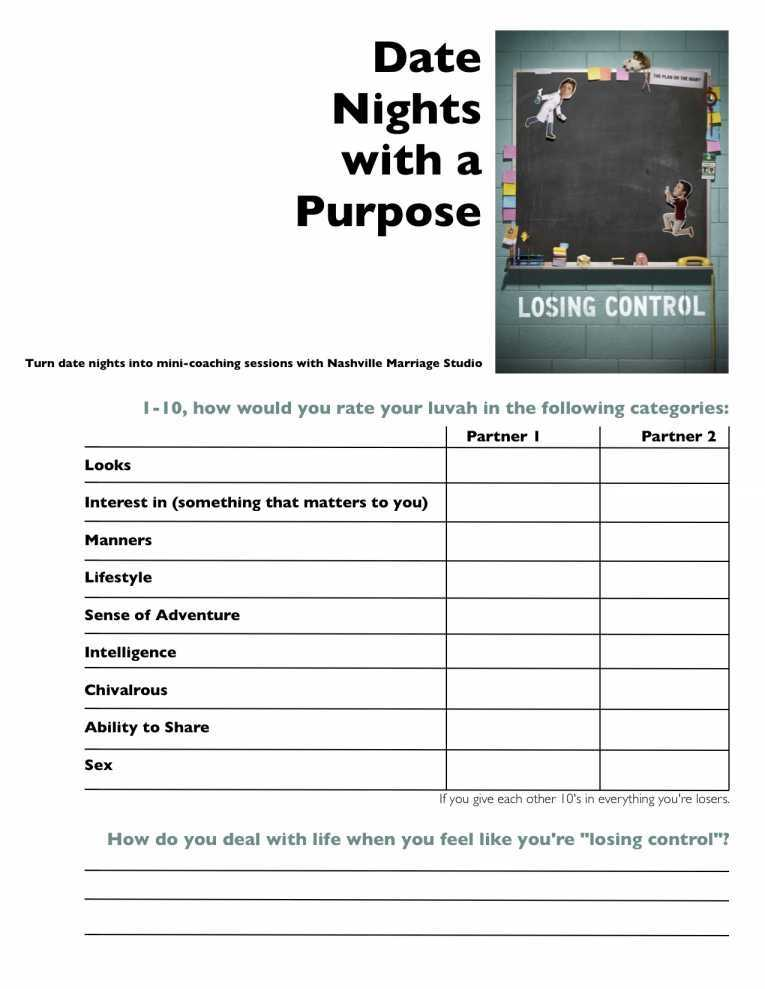 Free Marriage Counseling Worksheets and Marital Counseling Worksheets Kidz Activities